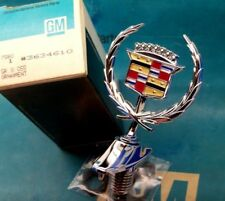 NOS 86 87 CADILLAC ELDORADO & SEVILLE HOOD ORNAMENT EMBLEM E&G VOGUE WIRE WHEELS