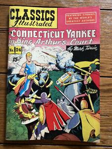 CLASSICS ILLUSTRATED COMICS #24 HRN23 (CONNECTICUT YANKEE)