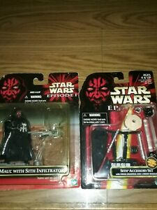 STAR WARS EPISODE 1  DARTH MAUL WITH INFILTRATOR SITH ACCESSORY SET