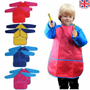 Childrens Apron Painting DIY Crafts Clothes Boys Girls Pottery School Art Smock