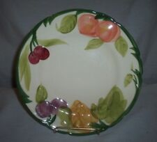 "FRANCISCAN 8"" FRUIT PATTERN MULTI COLORED PLATE MADE IN USA"