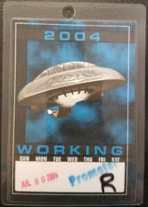 BOSTON - 2004 WORKING PROMOTER - ORIGINAL TOUR CONCERT LAMINATE BACKSTAGE PASS