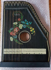 Zither, alte Konzertharfe, alle Saiten komplett