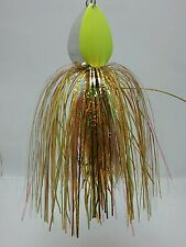 MUSKY BUCKTAIL SPINNER BAIT Double Blades   MUSTAD Treble Gold Flashabou Skirt