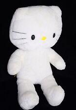 "Build A Bear HELLO KITTY 17"" CAT White Plush Soft Toy Stuffed BABW Sanrio No Bow"