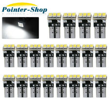 20X Pure White T10 9-SMD Wedge Dome Map LED License Light Bulbs W5W 168 194 2825