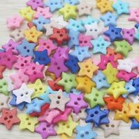 100X Baby Kid Mixed Colors Resin  Pentagram Star Buttons Sewing Crafts  AU