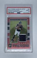 2017 Panini Donruss Optic DeShaun Watson RC ROOKIE PHENOM PATCH PSA 9