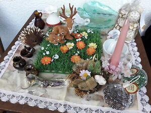Deko Paket, Kerzen, Glassteine, Figuren, Keramik Neu und Gebraucht, Konvolut