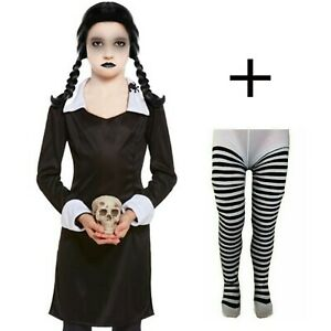 CHILDRENS KIDS GIRLS SCARY DAUGHTER FANCY DRESS COSTUME HALLOWEEN HORROR OUTFIT