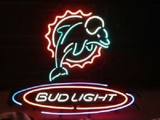 "New Bud Light Miami Dolphins Football NFL Neon Light Sign 20""x16"""