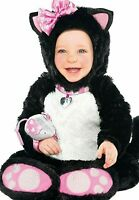 NWT Amscan ITTY BITTY KITTY COSTUME Halloween CAT Party BLK  Infant Girl 6-12 Mo