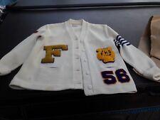 Vintage 50s  F Varsity Letterman Sweater, Alaska