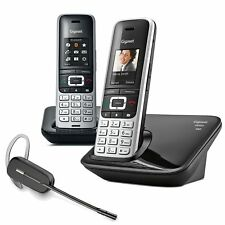 Gigaset S850A Cordless Phone 2 Handsets with Wireless Headset DECT