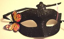 NEW Pink gold butterfly black glitter Masquerade Mask Eye Gothic halloween