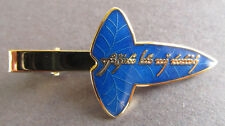 Elfish Tie Clip - Tengwar - Blue Glass