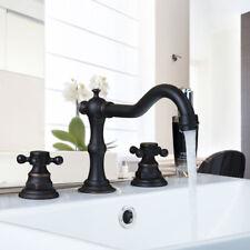 Oil Rubbed Bronze 2 Handles Widespread Roman Taps Bath Tub Basin Mixer Faucet