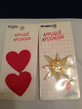 Sewing appliques roses star hearts Holly Hobby Wrights