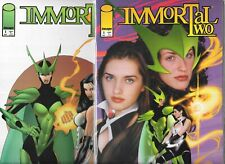 IMMORTAL TWO #1 SET OF PHOTO & ART COVERS (VF/NM) IMAGE COMICS
