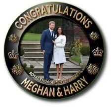 "MEGHAN MARKLE~ PRINCE HARRY~ROYAL ENGAGEMENT SOUVENIR ~2.2""/55 mm BADGE"