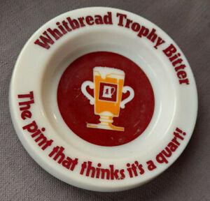 Vintage Pub Ashtray Whitbread Trophy Bitter