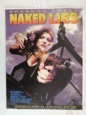 Naked Lies (Shannon Tweed) Original Movie Flyer 90s