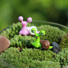 """3X Garden Ornament Miniature Snail Figurine Resin Craft Fairy Dollhouse""""Decor Ng"""