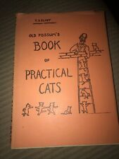1939, Old Possum's Book of Practical Cats by Ts Eliot, Harcourt Hbw/dj, Early Pr