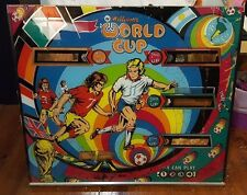 "1978 Williams WORLD CUP Pinball Backglass Back Glass 25.5"" X 28.5"""