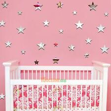 20pcs Removable Star Mirrors Wall Stickers Decal Art Vinyl Kids Room Wall Decor