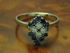 18kt 750 White Gold Ring with 0,32ct Brilliant & 0,30ct Sapphire Trim/ 3,8g/ Rg