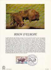 Grande carte (16x22cm) 1 er jour timbrée encart 1974 BISON D'EUROPE