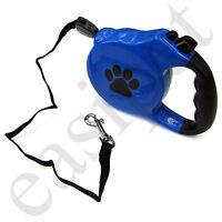 Retractable Dog Pet Lead Training Leash 8m Long Max 50kgs Extendable Easipet