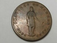 1852 Quebec Bank One Penny Tokens. Province of Canada.  #104