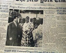 Dominion of Ghana West Africa Kwame Nkrumah 1st President Is Born 1957 Newspaper