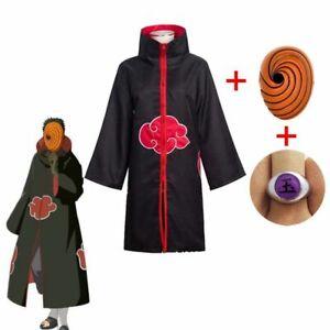 Anime Naruto Deidara Tobi Akatsuki Headband Necklace Ring Kunai Costume Cosplays