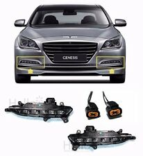 OEM Genuine LED Fog Lights Lamp Assembly DRL Wire For 2015 HYUNDAI GENESIS Sedan