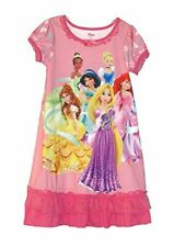 Disney Girl's Pink Bow Tulle Nightgown, Gown, Princesses, Size 5/6