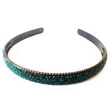 USA Handmade Headband Rhinestone Crystal Hairband Hairpin Bling Green B01