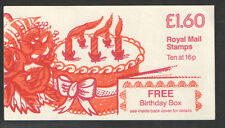 FS1Aa / DB8(22)B Corrected Rates £1.60 Birthday Box Left Margin Folded Booklet