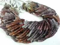 """1 Strand Natural Multi Spinel Rondelle Faceted 3.5-4mm,Gemstone Beads 13""""Inch"""