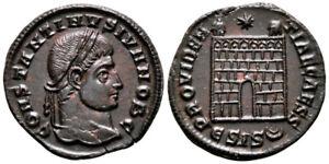 CONSTANTINE II (328-329 AD) Ae3 Follis. Siscia #NB 7815