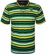 Mens Jamaica Flag Coloured Polo Shirt Short Sleeve T Shirt