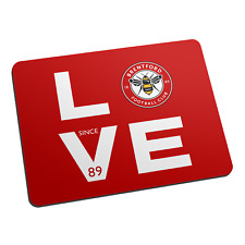 Brentford F.C - Personalised Mouse Mat (LOVE)