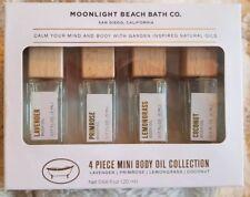 Moonlight Beach Bath Co. Body oil Kit Set Lavender Primrose Lemongrass Coconut
