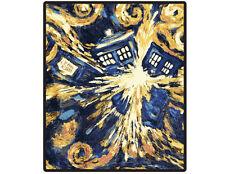 "Van Gogh Exploding TARDIS Throw 50"" x 60"" inches BBC"