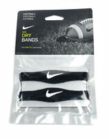 NIKE Dri-Fit Football Bicep Bands Black White Swoosh Unisex One Pair NEW Sealed