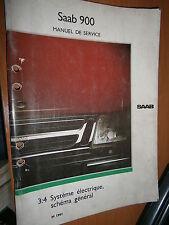 Saab 900 : manuel atelier partie 3:4 Système électrique schémas 1991