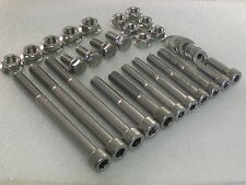 Honda XBR500 GB500 Engine/Frame Stainless Allen Bolt Flange Nut 24pc Kit XBR400