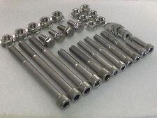 Honda XBR500 GB500 Engine/Frame Stainless Allen Bolt Flange Nut 24pc Kit XBR400